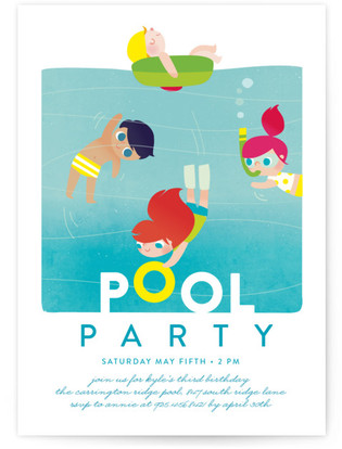 Beach Pool Birthday Party Invitations Minted