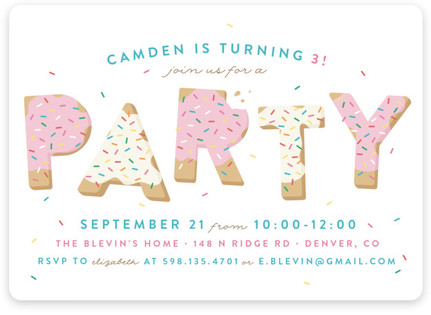 Dessert Themed Kids Birthday Party – Dessert Party Invitations