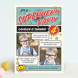 Superhero Birthday Party Children's Birthday Party Invitations
