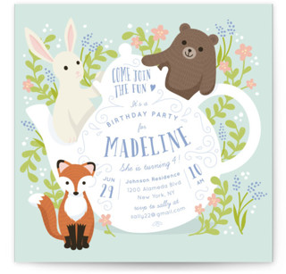 Tea party kids birthday invitations minted kids birthday invites shop all filmwisefo
