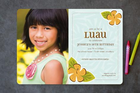 Lovely Luau Children's Birthday Party Invitations