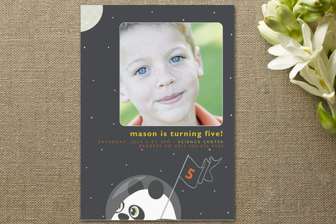 Intergalactic Children's Birthday Party Invitations