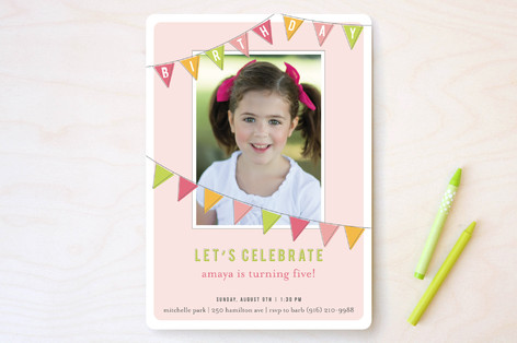 Fun Flags Children's Birthday Party Invitations