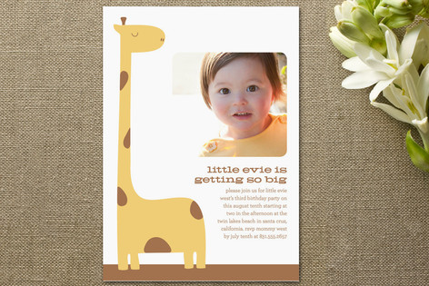 Getting So Big Children's Birthday Party Invitations