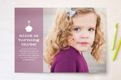 Alice Children's Birthday Party Invitations