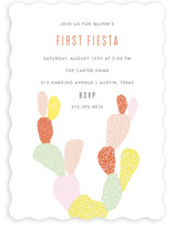 This is a orange kids birthday invitation by Julie Murray called First Fiesta with standard printing on signature in standard.