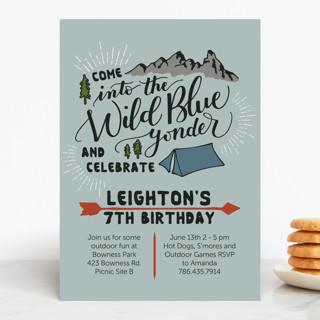 Wild Blue Yonder Children's Birthday Party Invitations