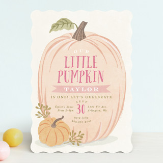 autumn pumpkin children s birthday party invitatio minted