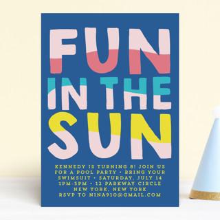 Fun Sun Children's Birthday Party Invitations