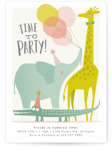 This is a colorful kids birthday invitation by Karidy Walker called Time to party! with standard printing on signature in standard.