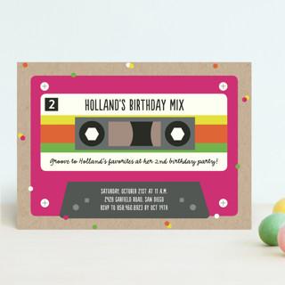 Retro Cassette  Children's Birthday Party Invitations