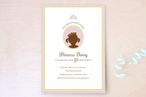 princess Children's Birthday Party Invitations