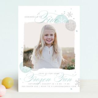 Frozen Birthday Fun Childrens Party Invitations