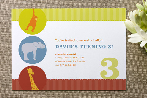 Circus Childrens Birthday Party Invitations by sw – Childrens Birthday Party Invitations