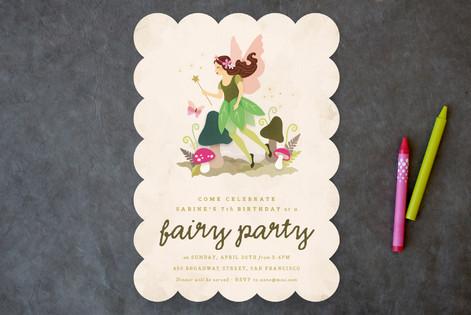 Very Fairy Children's Birthday Party Invitations