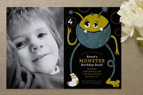 Monster Bash Children's Birthday Party Invitations