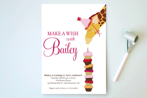 Make A Wish Children's Birthday Party Invitations