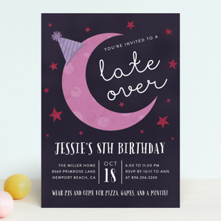 Late Over Children S Birthday Party Invitations Minted