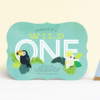 Jungle Birds Children's Birthday Party Invitations