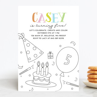 make and color Children's Birthday Party Invitations