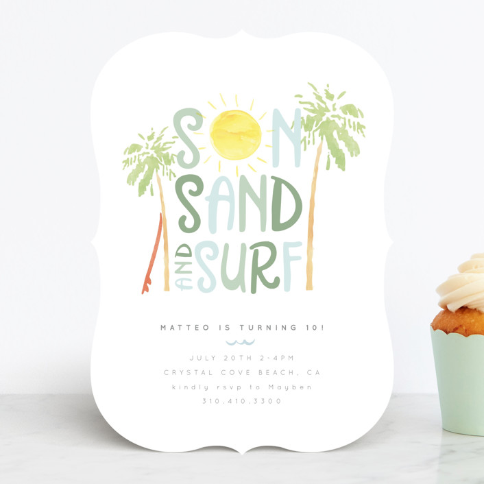 Tropical Kids' Birthday Party Invitation