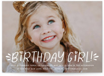 This is a white kids birthday invitation by Ashley Rosenbaum called Birthday Doodle with standard printing on signature in standard.