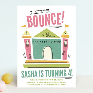 Lets Bounce Childrens Birthday Party Invitations – Bounce Party Invitation
