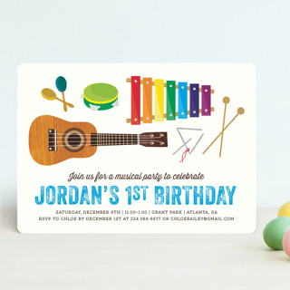 Musical Instruments Children's Birthday Party Invitations