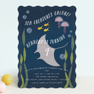 sea life children s birthday party invitations by minted