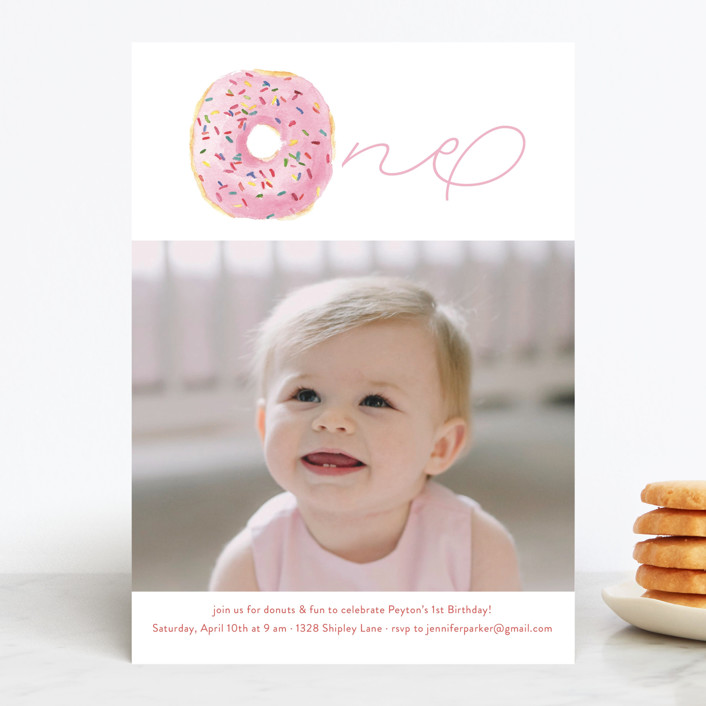 """""""Sprinkle Me One"""" - Children's Birthday Party Invitations in Candy by Lagniappe Paper."""