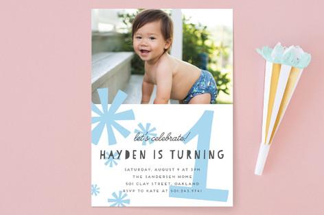 Bursts Children's Birthday Party Invitations