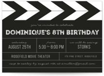 Action Children's Birthday Party Invitations