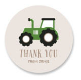 This is a red kids sticker by iamtanya called Happy Farm with standard printing on uncoated sticker paper in sticker.