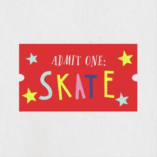 Skate Date Children's Birthday Party Stickers