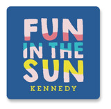This is a blue kids sticker by Baumbirdy called Fun Sun with standard printing on uncoated sticker paper in sticker.