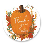 This is a orange kids sticker by Corie Page called Pumpkin Patch with standard printing on uncoated sticker paper in sticker.