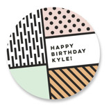 cartoon b-day Children's Birthday Party Stickers