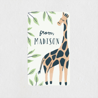 Wild Giraffe Children's Birthday Party Stickers