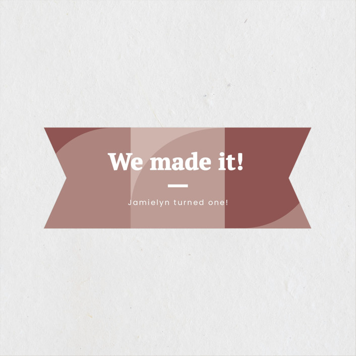"""""""Made it"""" - Children's Birthday Party Stickers in Blush by Adelyn T.."""