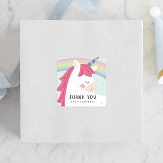 unicorno Children's Birthday Party Stickers