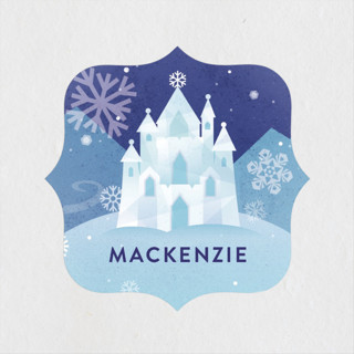 Ice Castle Children's Birthday Party Stickers