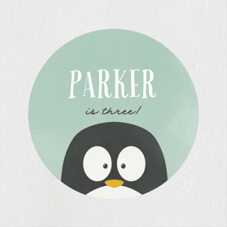 Penguin Party Children's Birthday Party Stickers