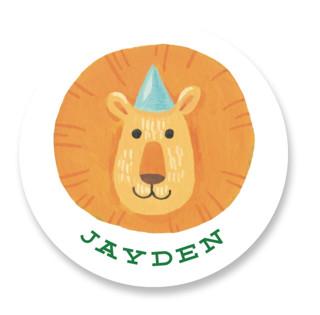 Animal Safari Children's Birthday Party Stickers
