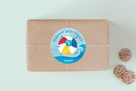 Big Splash Children's Birthday Party Stickers