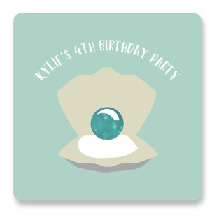 Little Mermaid Children's Birthday Party Stickers