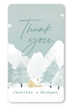 This is a blue kids sticker by Adelyn T. called Calm Winter with standard printing on uncoated sticker paper in sticker.