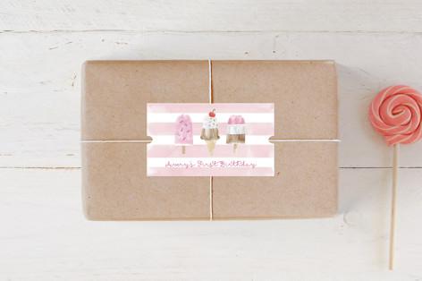 Sweet Treats Children's Birthday Party Stickers