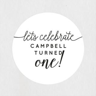 Let's Celebrate a Birthday Children's Birthday Party Stickers