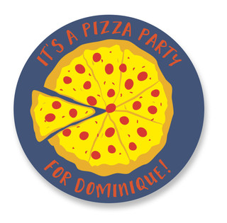 Pizza Party Children's Birthday Party Stickers