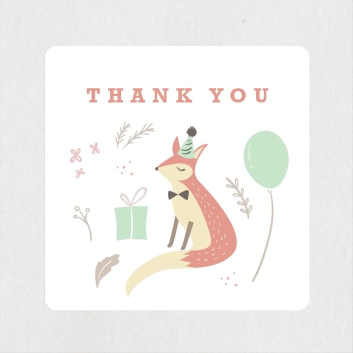 """tartletta"" - Children's Birthday Party Stickers in Mint by chocomocacino."